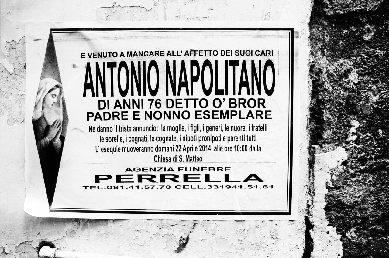 """Antonio Napolitano, detto """"o' bror"""" - Napoli, 2015"""
