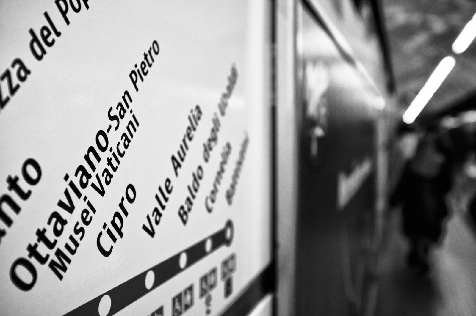 Verso San Pietro - La metro di Roma che porta in San Pietro