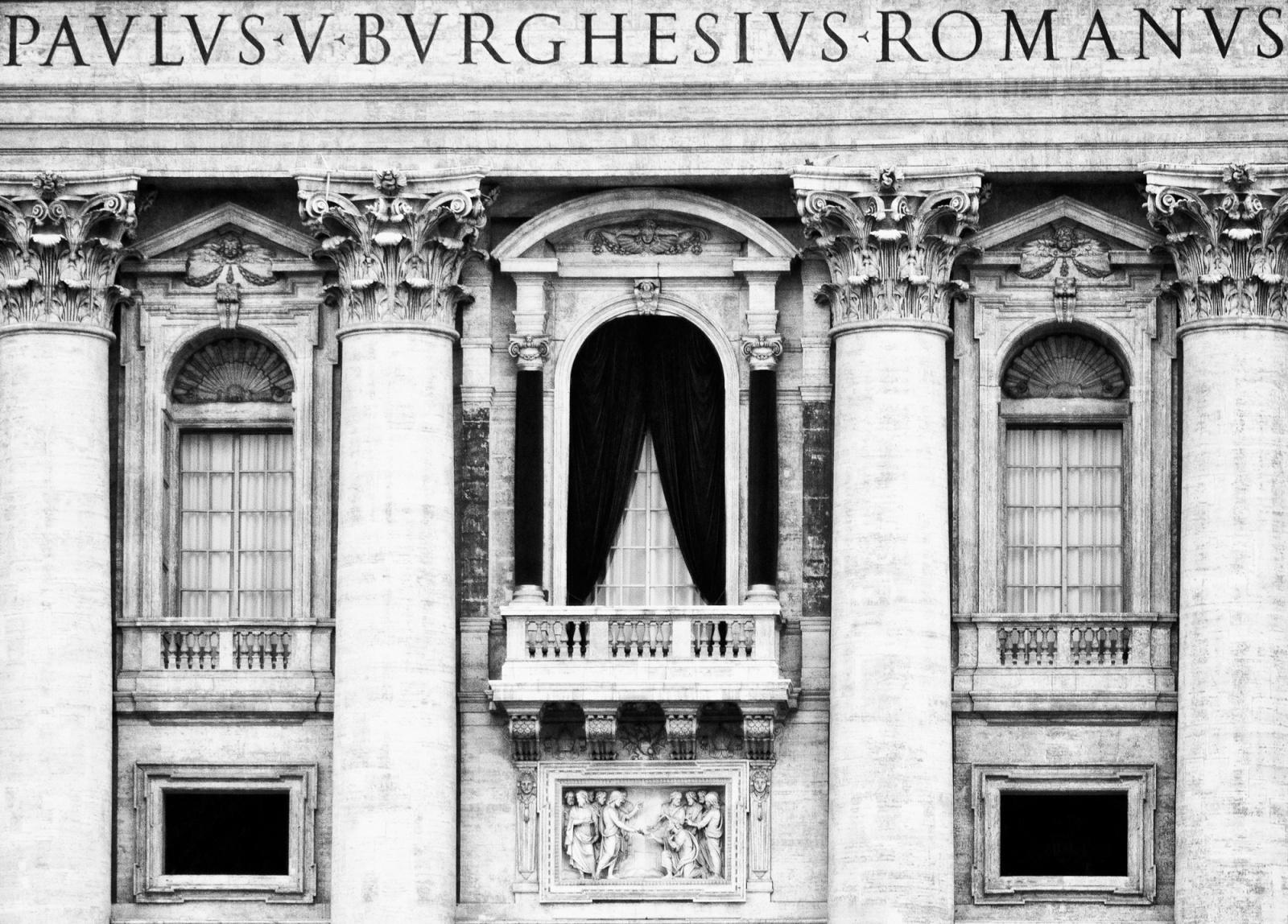 Cunclavis sine Papam - Il balcone di San Pietro ove si affaccia il Papa neo-eletto