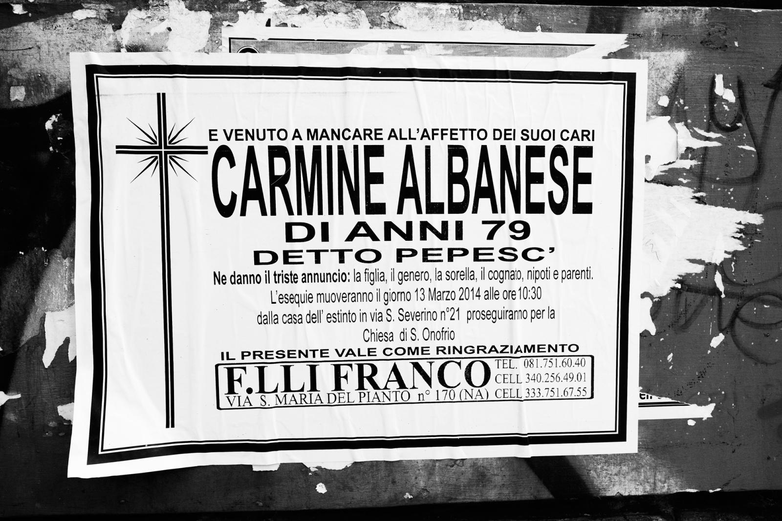 """Carmine Calabrese, detto """"pepesc"""" - Napoli, 2015"""