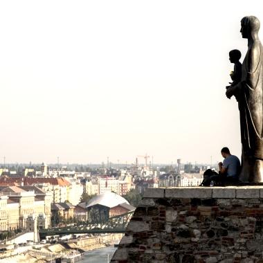 Statua del Palazzo Reale di Budapest